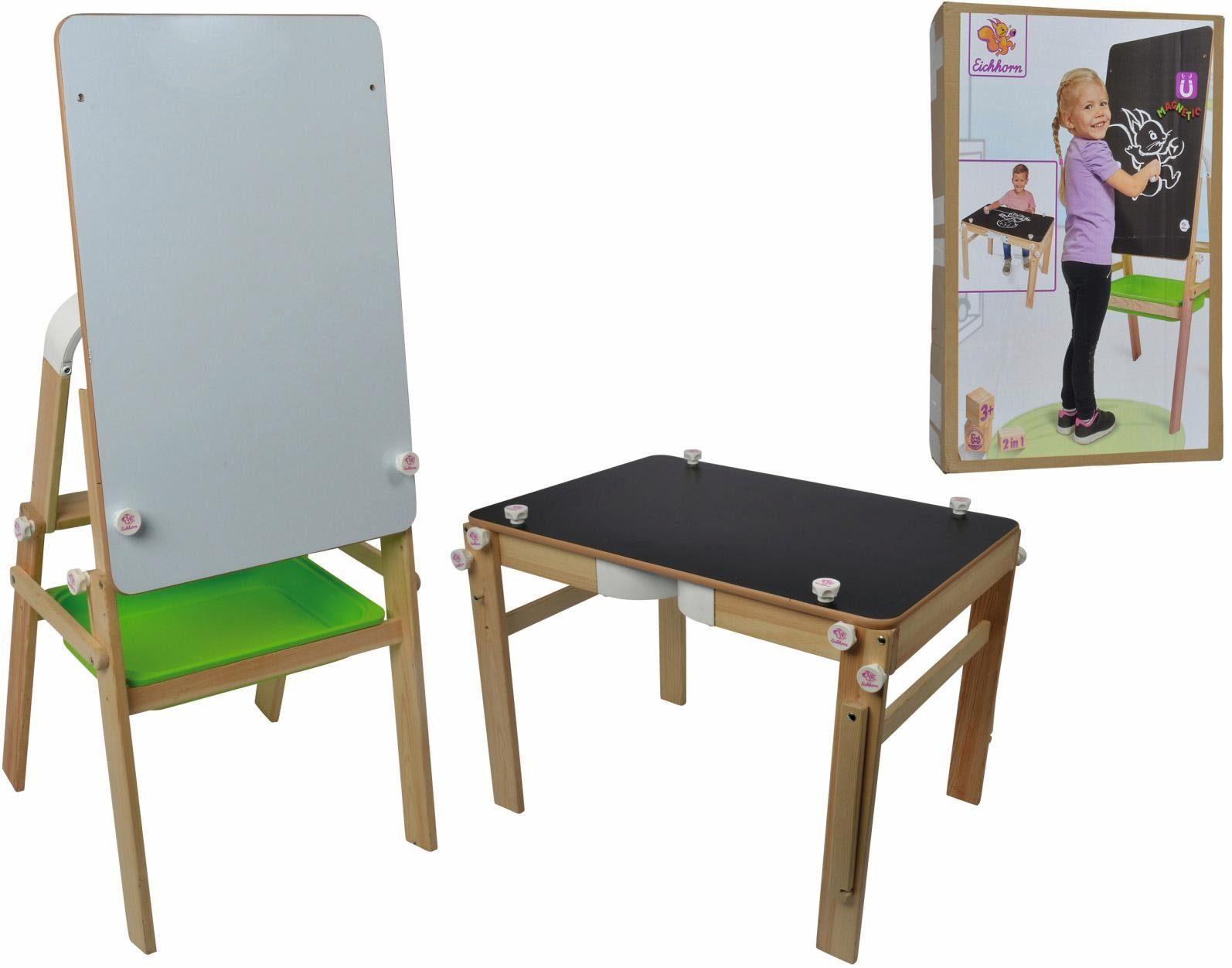 Eichhorn Kindertisch, »2 in 1 Maltafel und Schreibtisch«