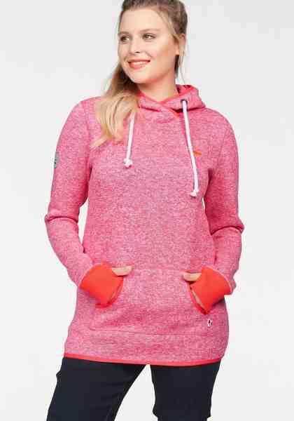 KangaROOS Kapuzensweatshirt, mit überschlagenem Kapuzenkragen