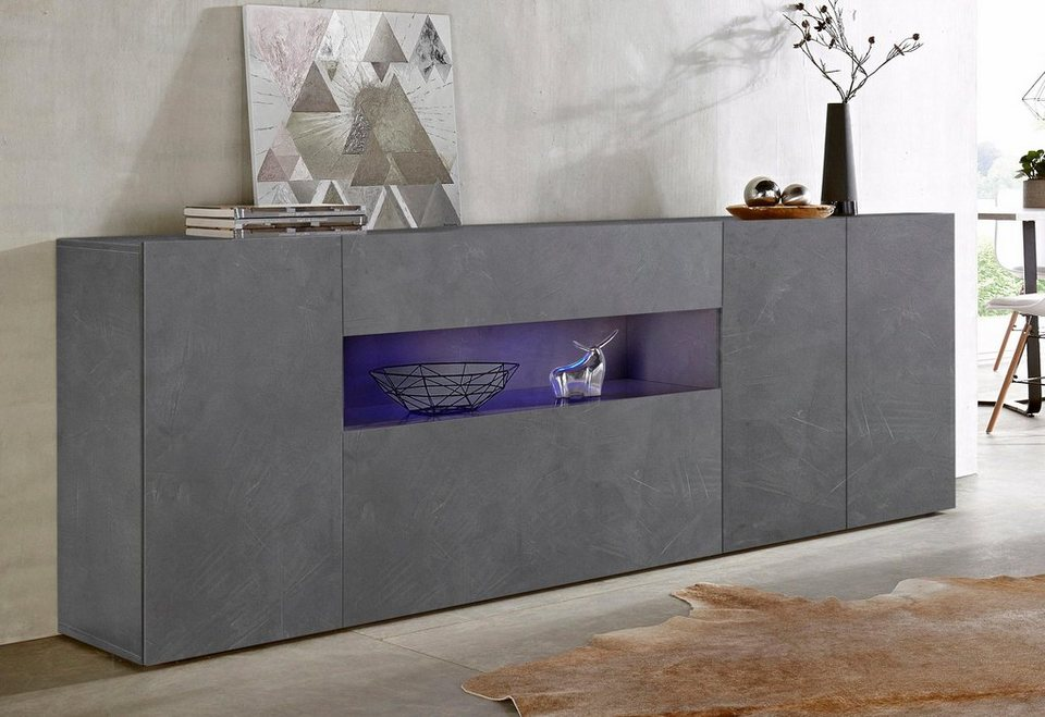 tecnos sideboard breite 220 cm online kaufen otto. Black Bedroom Furniture Sets. Home Design Ideas