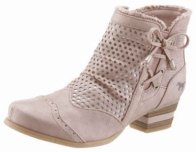 Mustang Shoes Sandalette, mit sommerlicher Perforation, weiß, ice