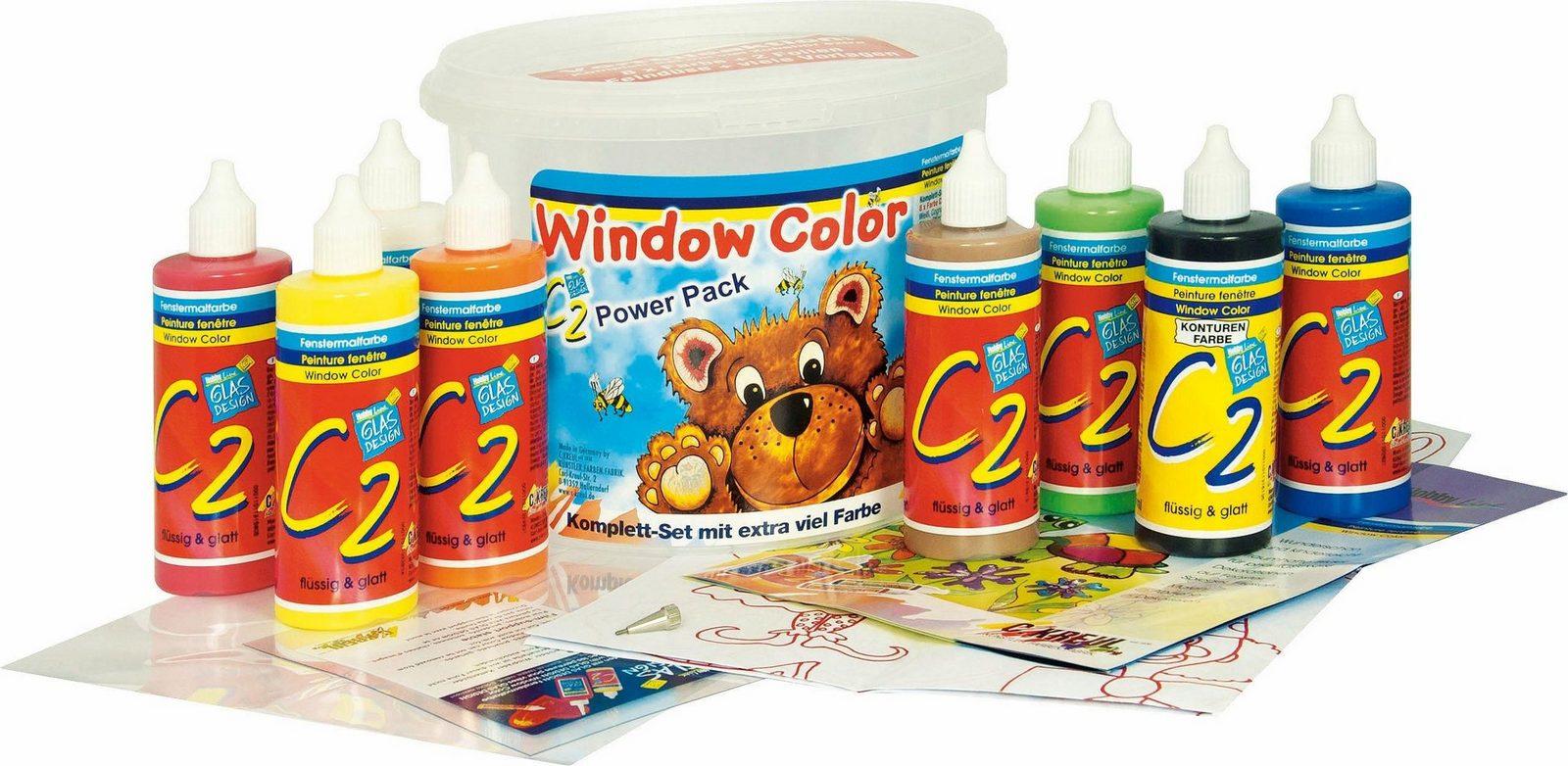 KREUL Fensterfarben, »Window Color C2 Set Powerpack 8er Set«