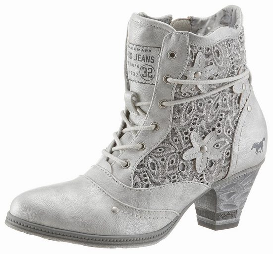 Mustang Shoes Ankle Boots With Embroidery Summer