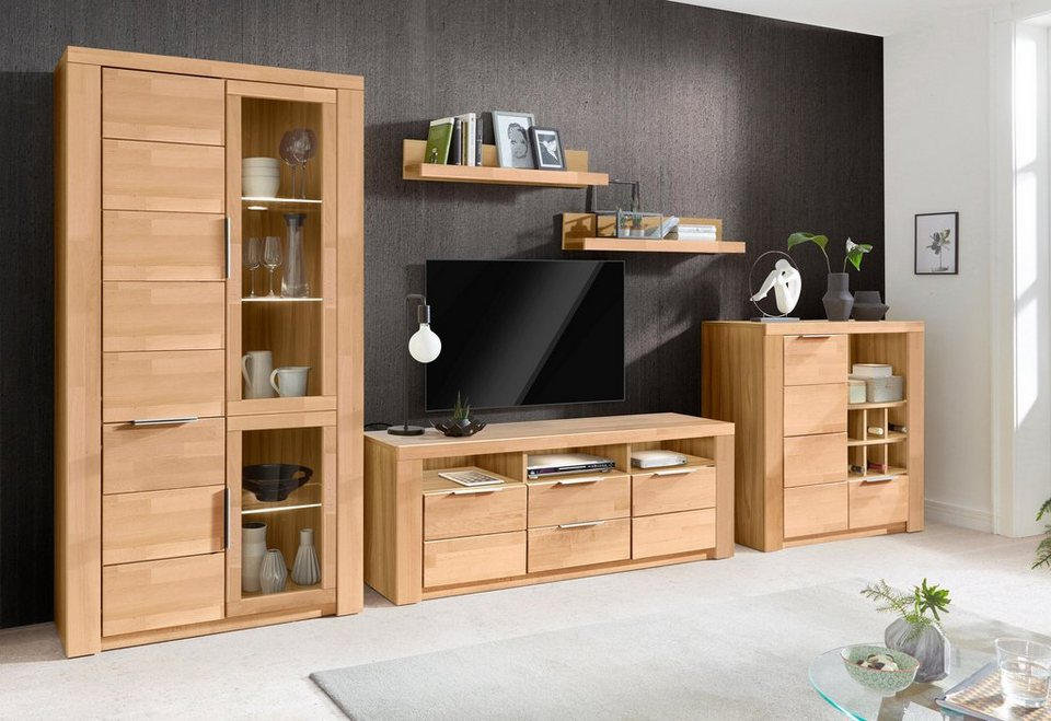 wohnwand zara 5 tlg pflegeleichte oberfl chen online kaufen otto. Black Bedroom Furniture Sets. Home Design Ideas