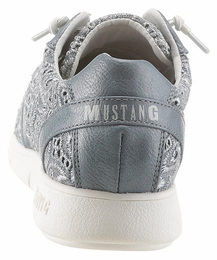 Mustang Shoes Sneaker, With Summer Blossoms Embroidery