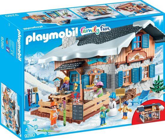 Playmobil® Konstruktionsspielsteine »Skihütte (9280), Family Fun«