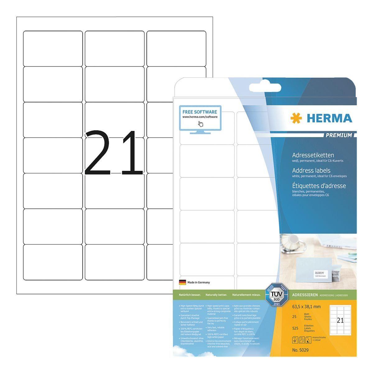 HERMA 525er-Pack Klebeetiketten »PREMIUM«
