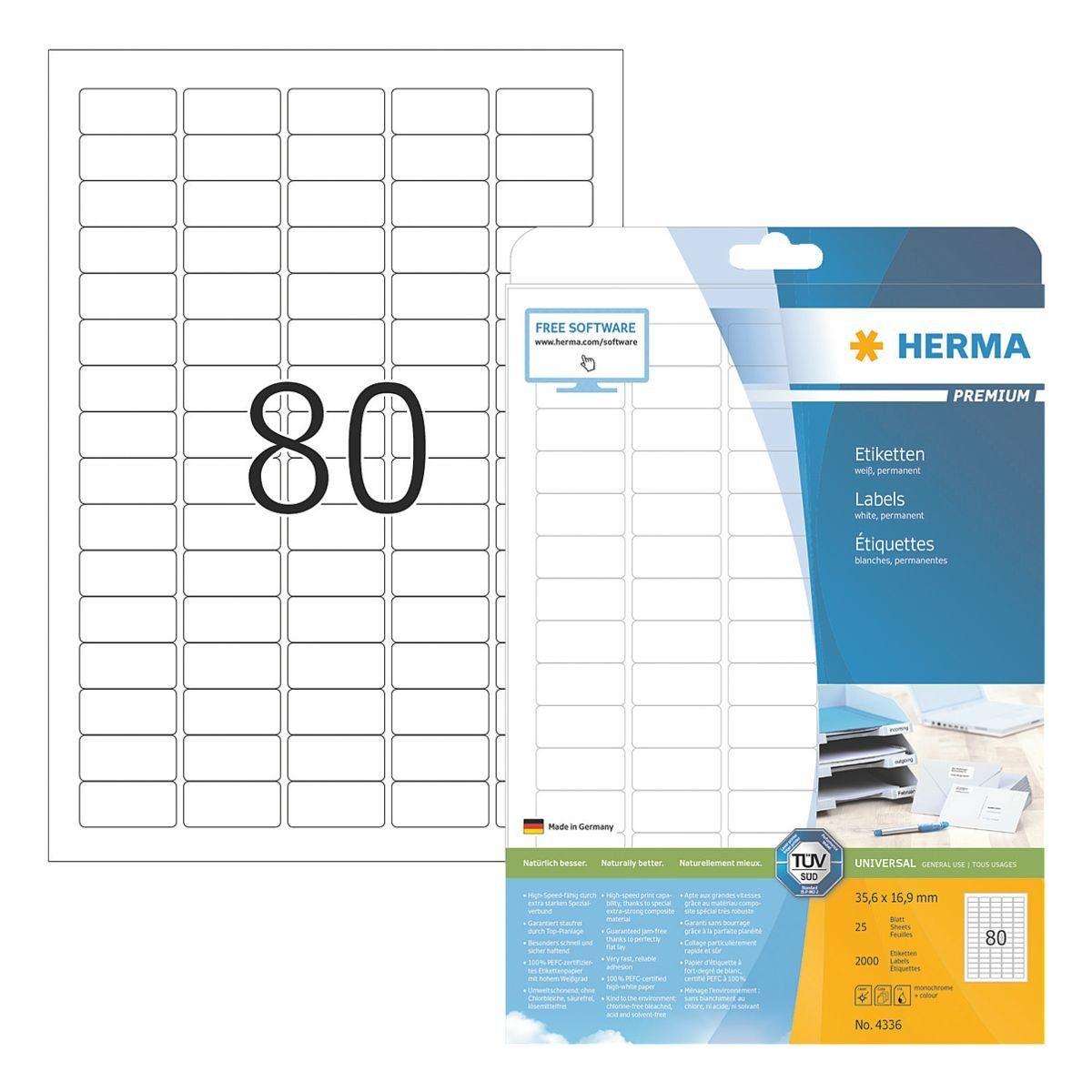 HERMA 2000er-Pack Klebeetiketten »PREMIUM«