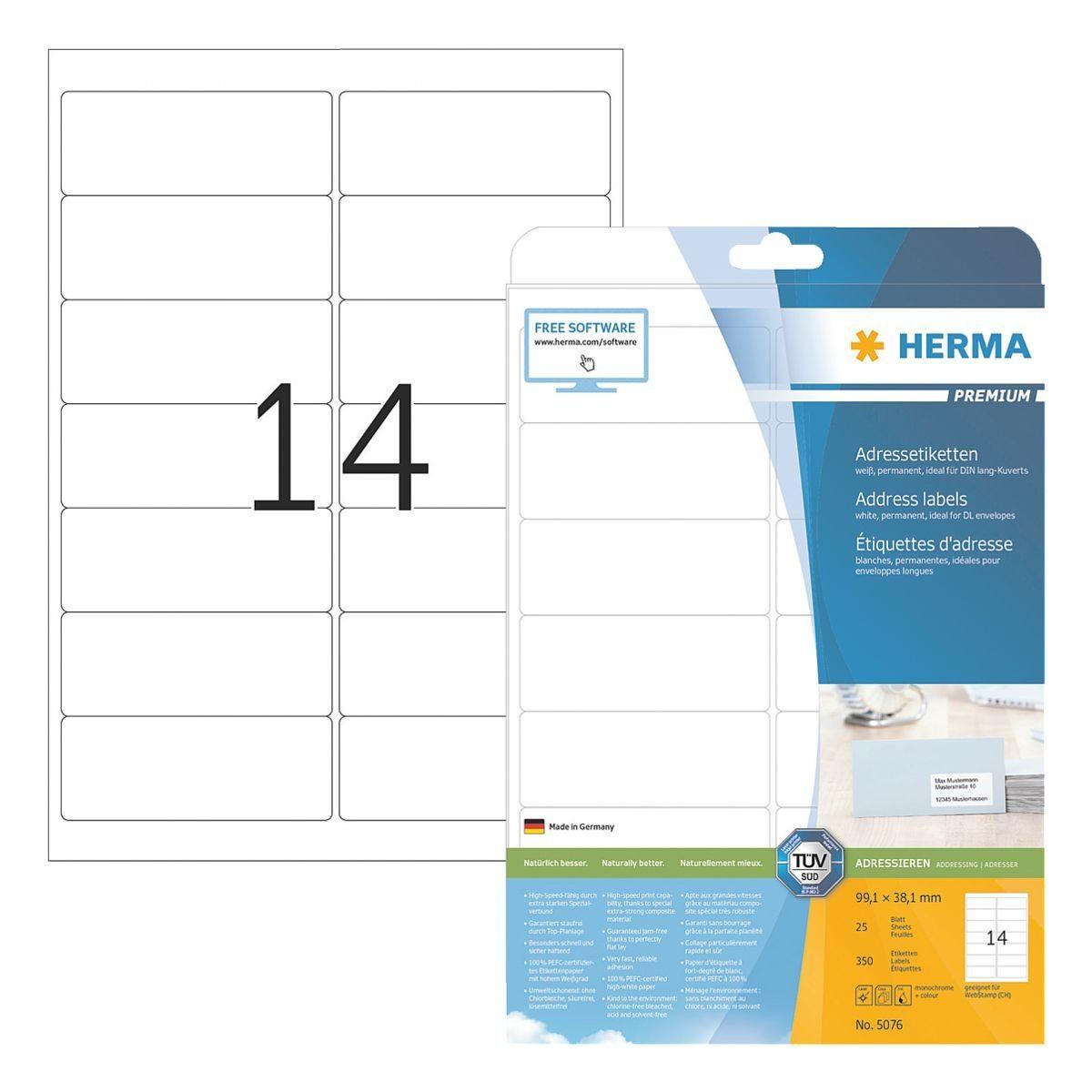 HERMA 350er-Pack Klebeetiketten »PREMIUM«