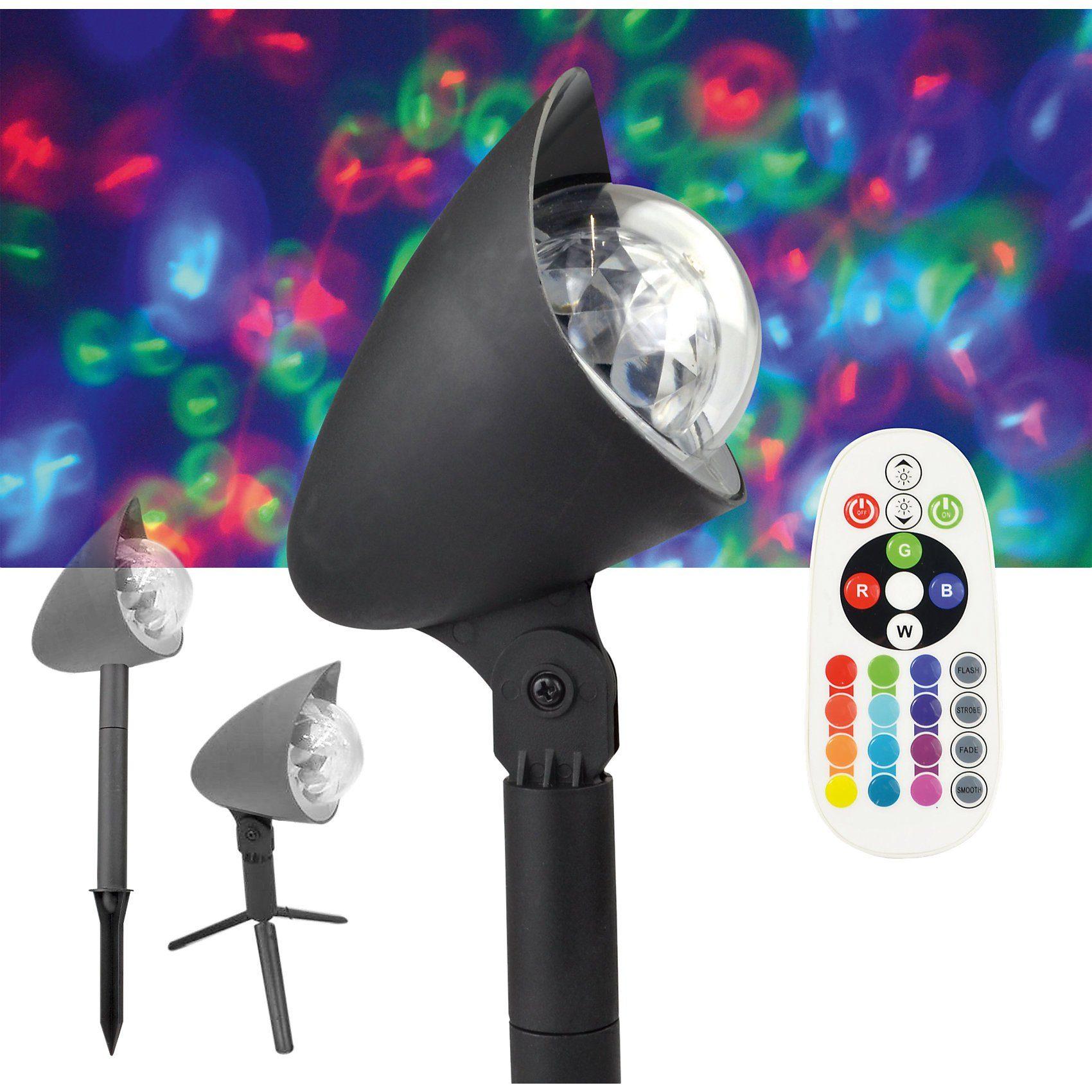 X4-Life Outdoor LED Discostrahler, inkl. Erdspieß/Dreifuß