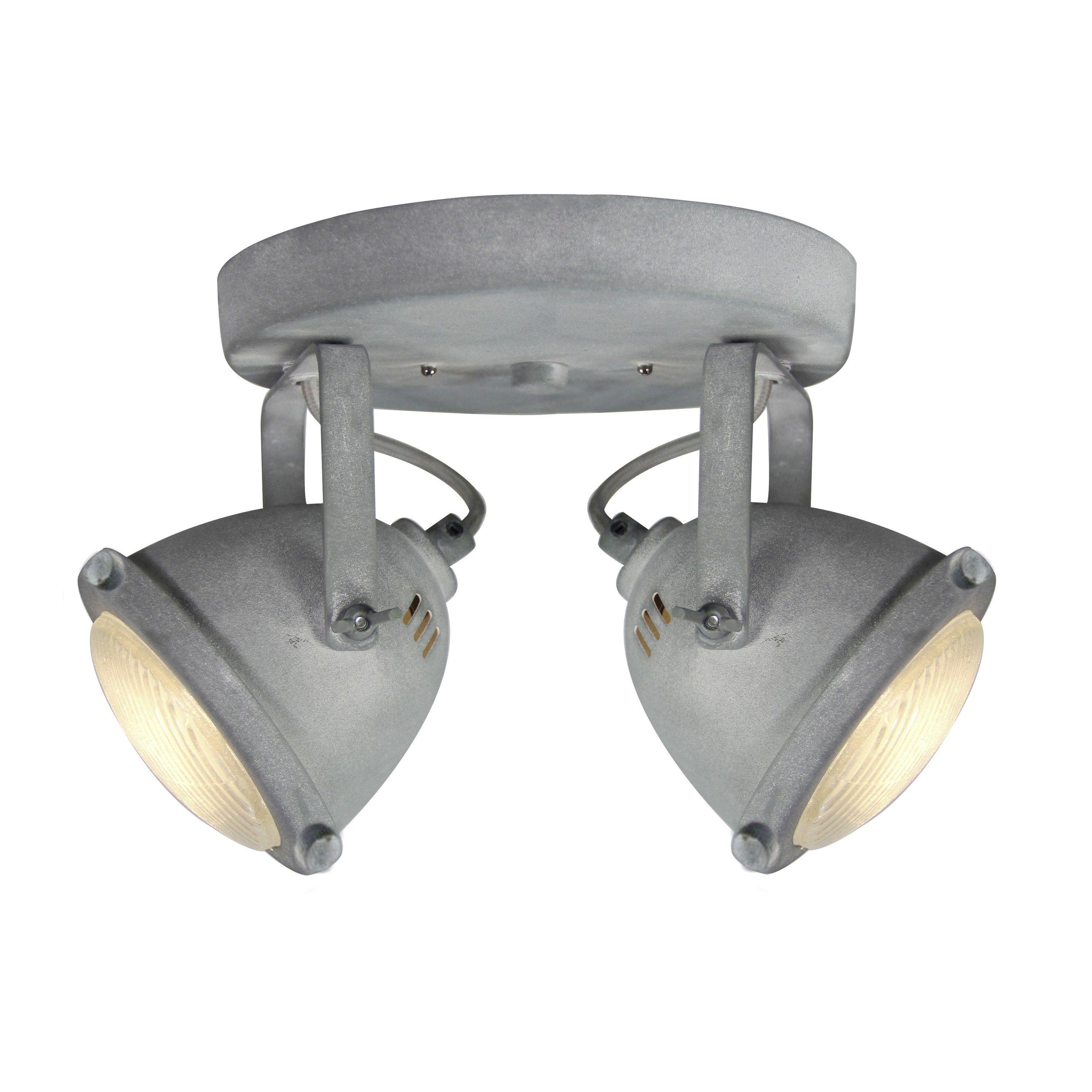 Brilliant Leuchten Carmen LED Spotrondell, 2-flammig grau Beton