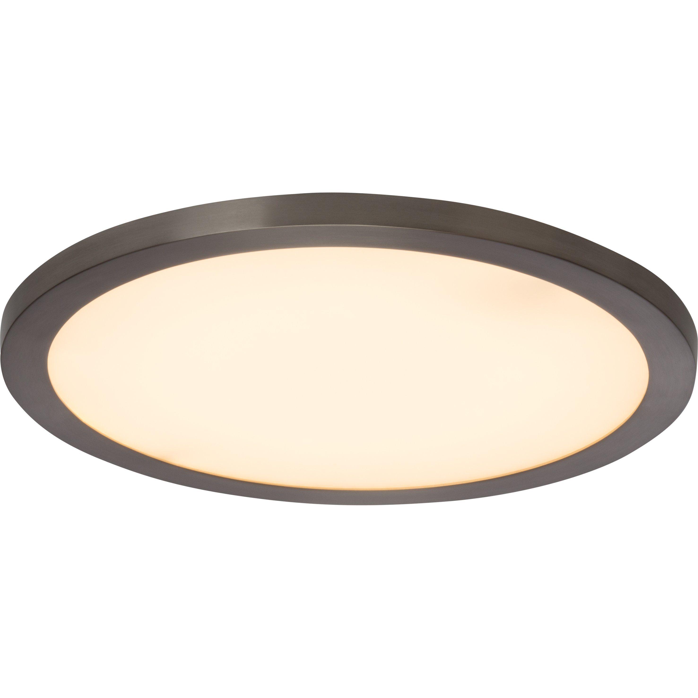 Brilliant Leuchten Smooth LED Deckenaufbau-Paneel 40cm eisen