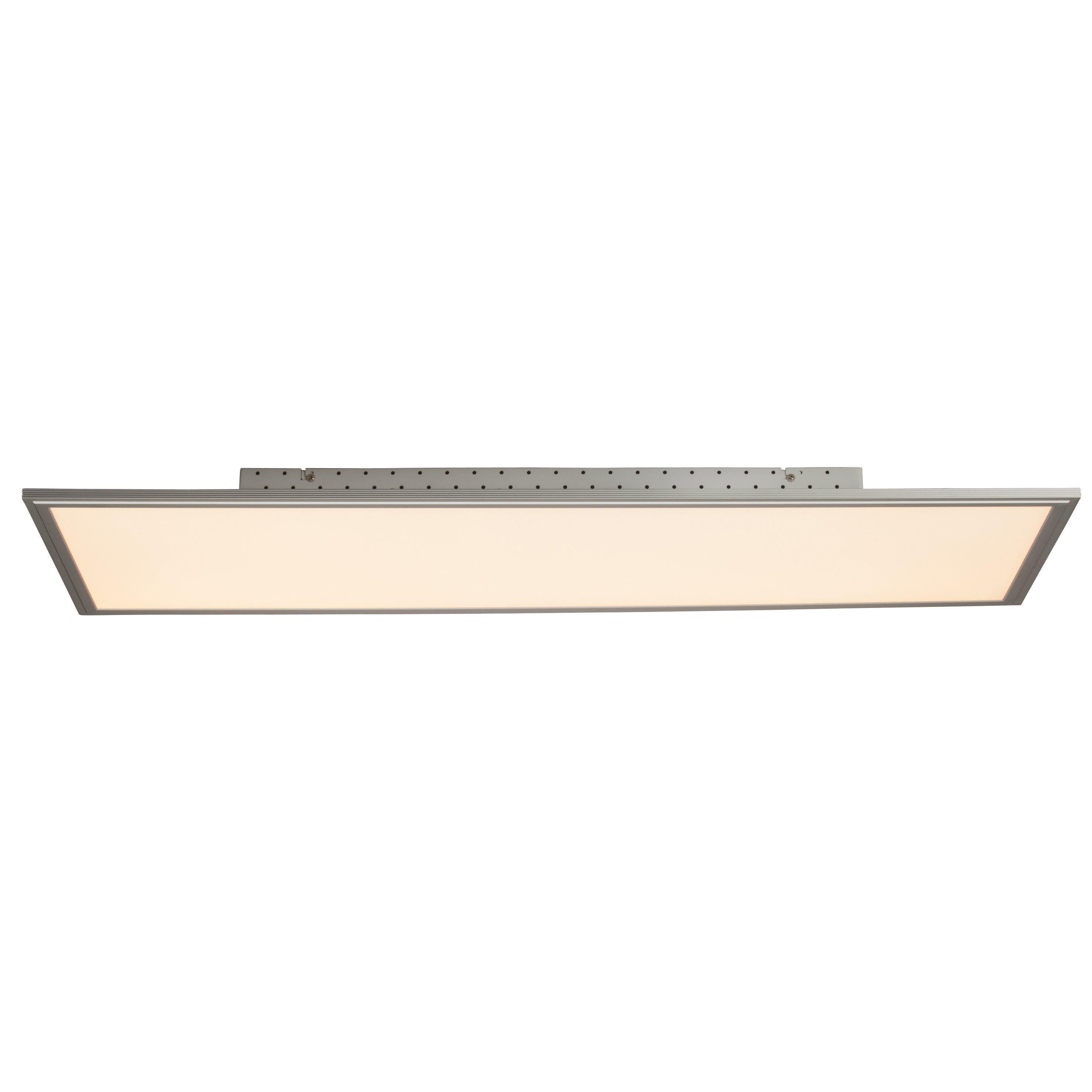 Brilliant Leuchten Flat LED Deckenaufbau-Paneel 100x35cm alu/weiß Fernbedienung