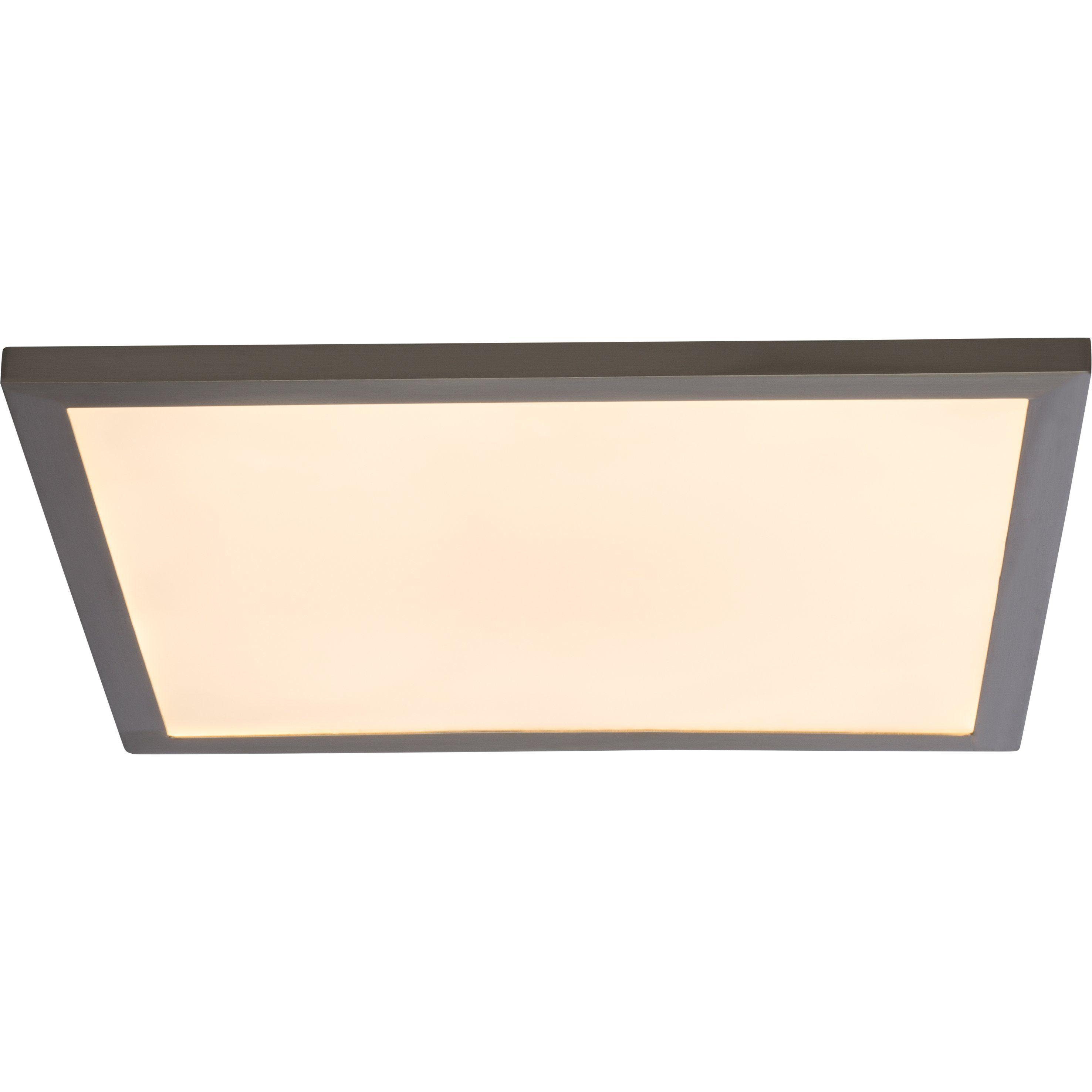 Brilliant Leuchten Smooth LED Deckenaufbau-Paneel 50x50cm eisen Fernbedienung