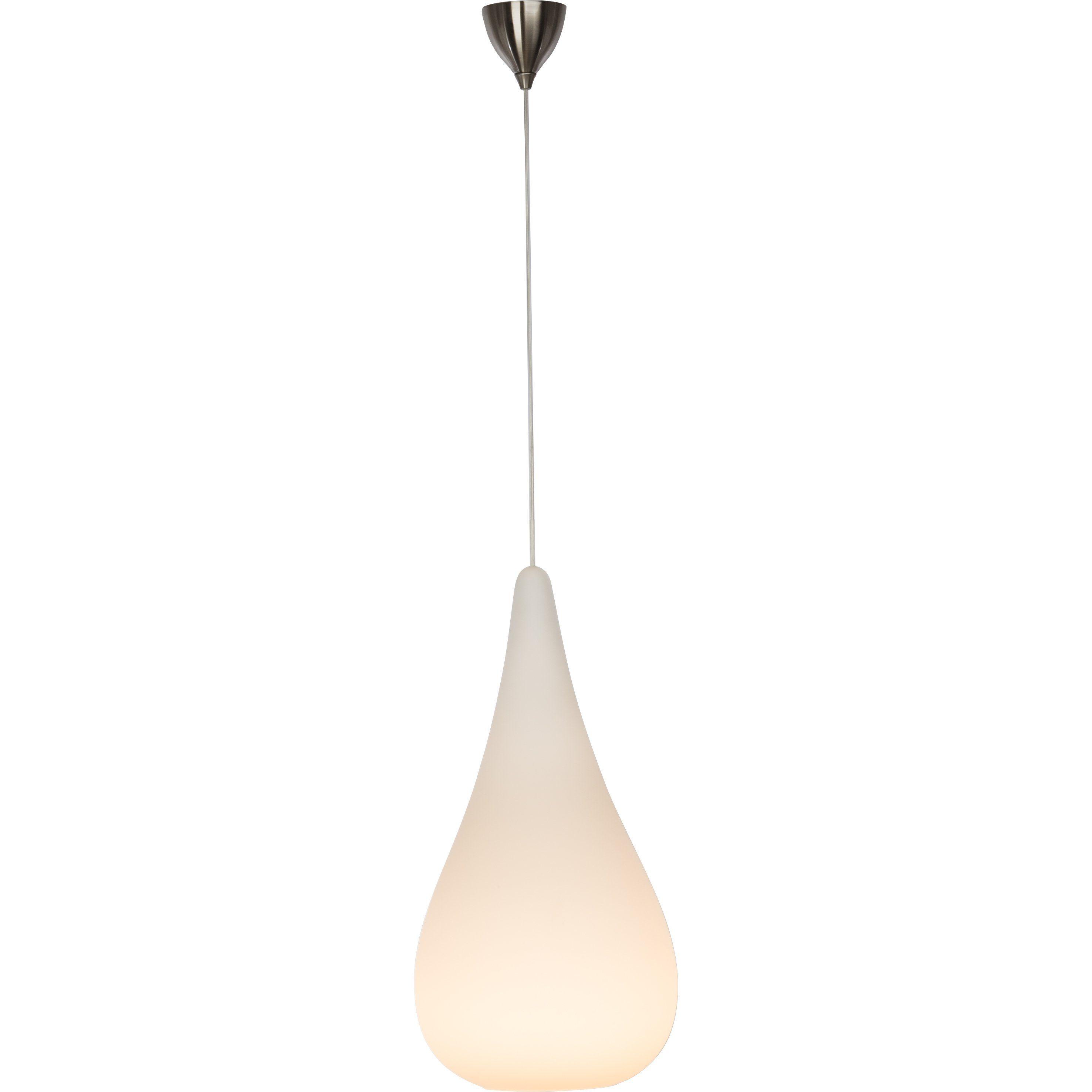 Brilliant Leuchten Icedrop Pendelleuchte, 1-flammig chrom/weiß