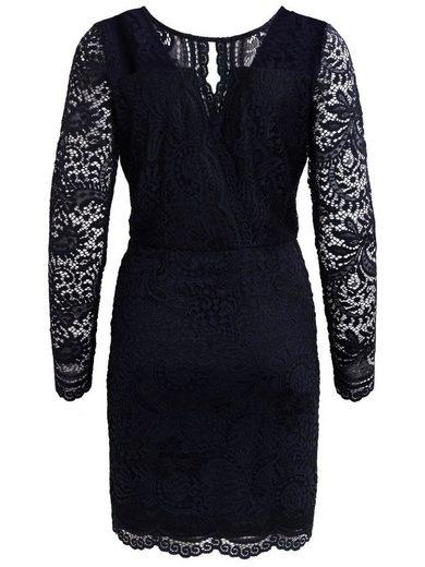 Vila Feminines Spitzen- Kleid