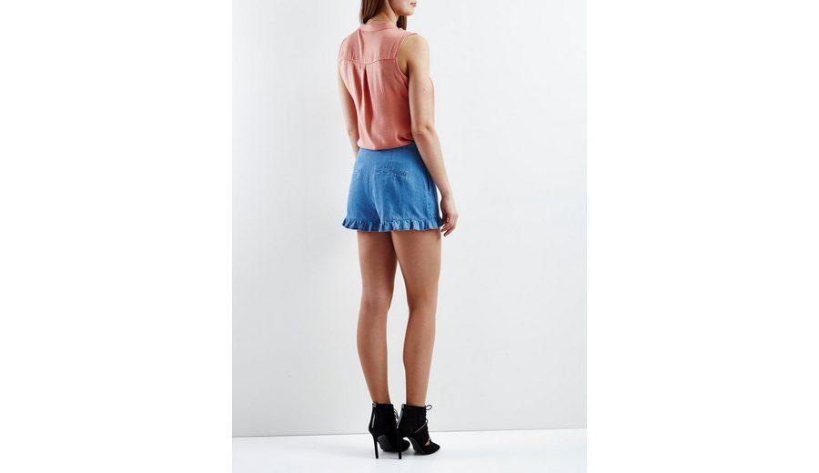 Neuesten Kollektionen Verkauf Online Billig Verkauf Neue Stile Vila Rüschendetaillierte Shorts Zum Verkauf Online-Shop rYQJPMjA