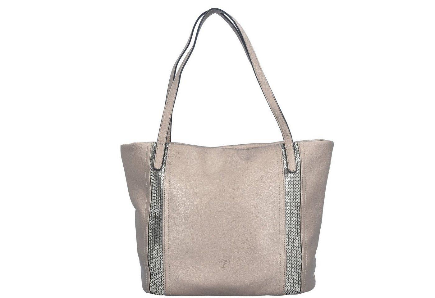 Damen Tom Tailor Denim  Lola Shopper Tasche 42 cm grau | 04251234414651