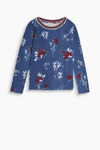EDC BY ESPRIT Fleece-Shirt aus Baumwoll-Stretch