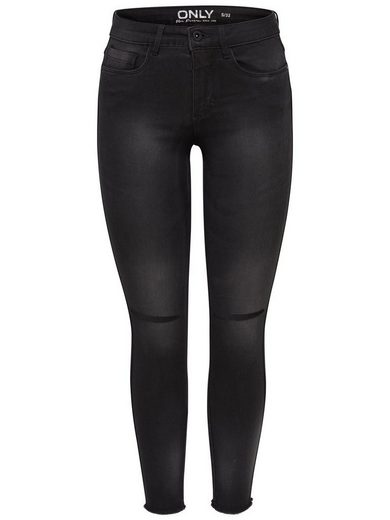 Only Royal Reg Ankle Kneecut Skinny Fit Jeans