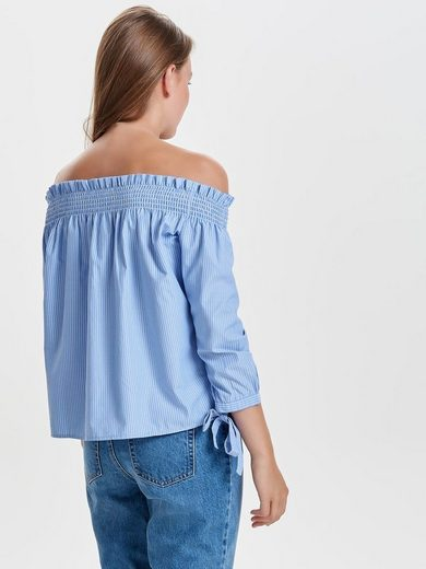 Only Off-Shoulder Oberteil mit langen Ärmeln