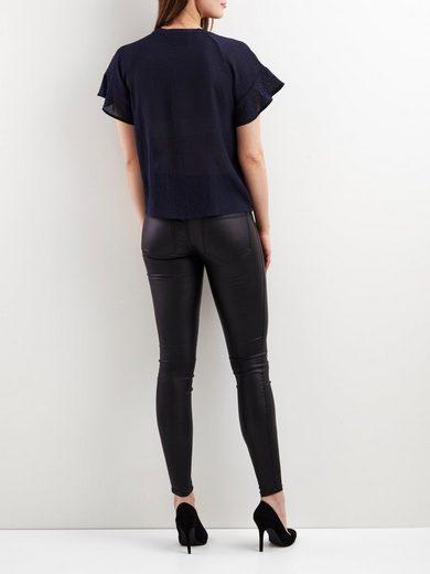 Object Feminine Shell With Short Sleeves