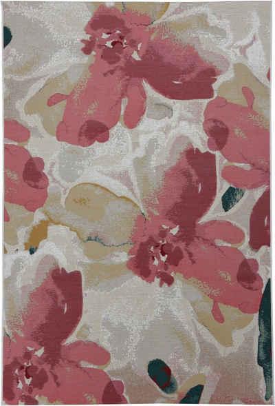 Teppich »Garden Blossom«, TOM TAILOR, rechteckig, Höhe 3 mm, Flachgewebe, modernes Blumen Design, In- und Outdoor geeignet, Wohnzimmer