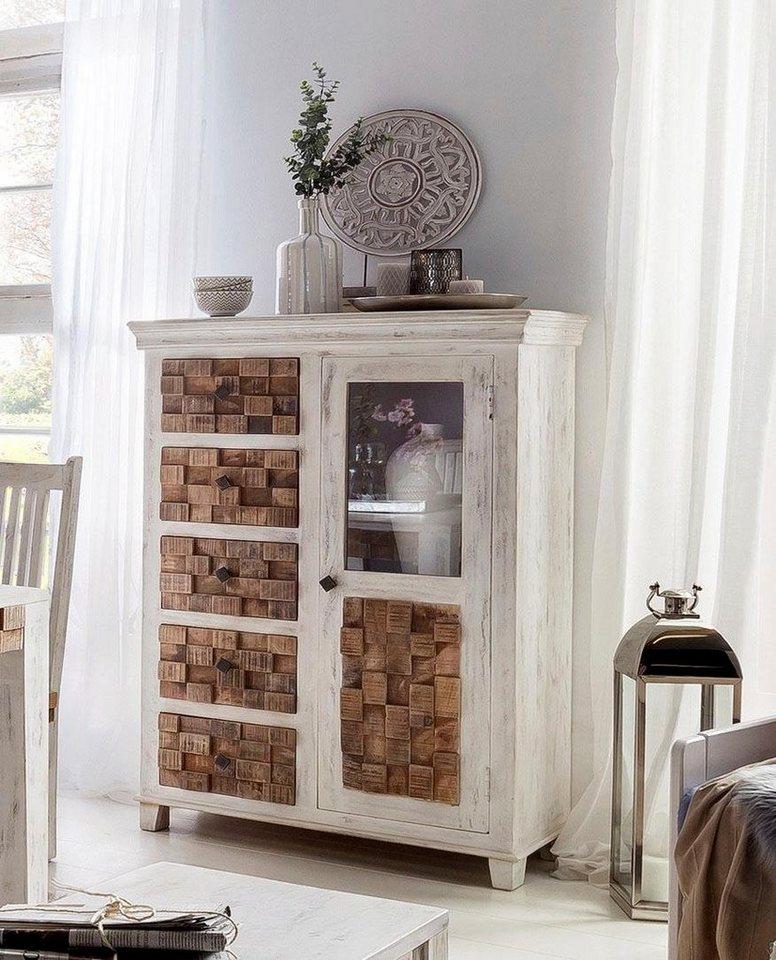 the wood times highboard bricks breite 100 cm otto. Black Bedroom Furniture Sets. Home Design Ideas