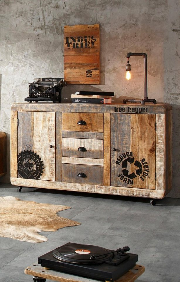 home affaire sideboard bully breite 150 cm otto. Black Bedroom Furniture Sets. Home Design Ideas