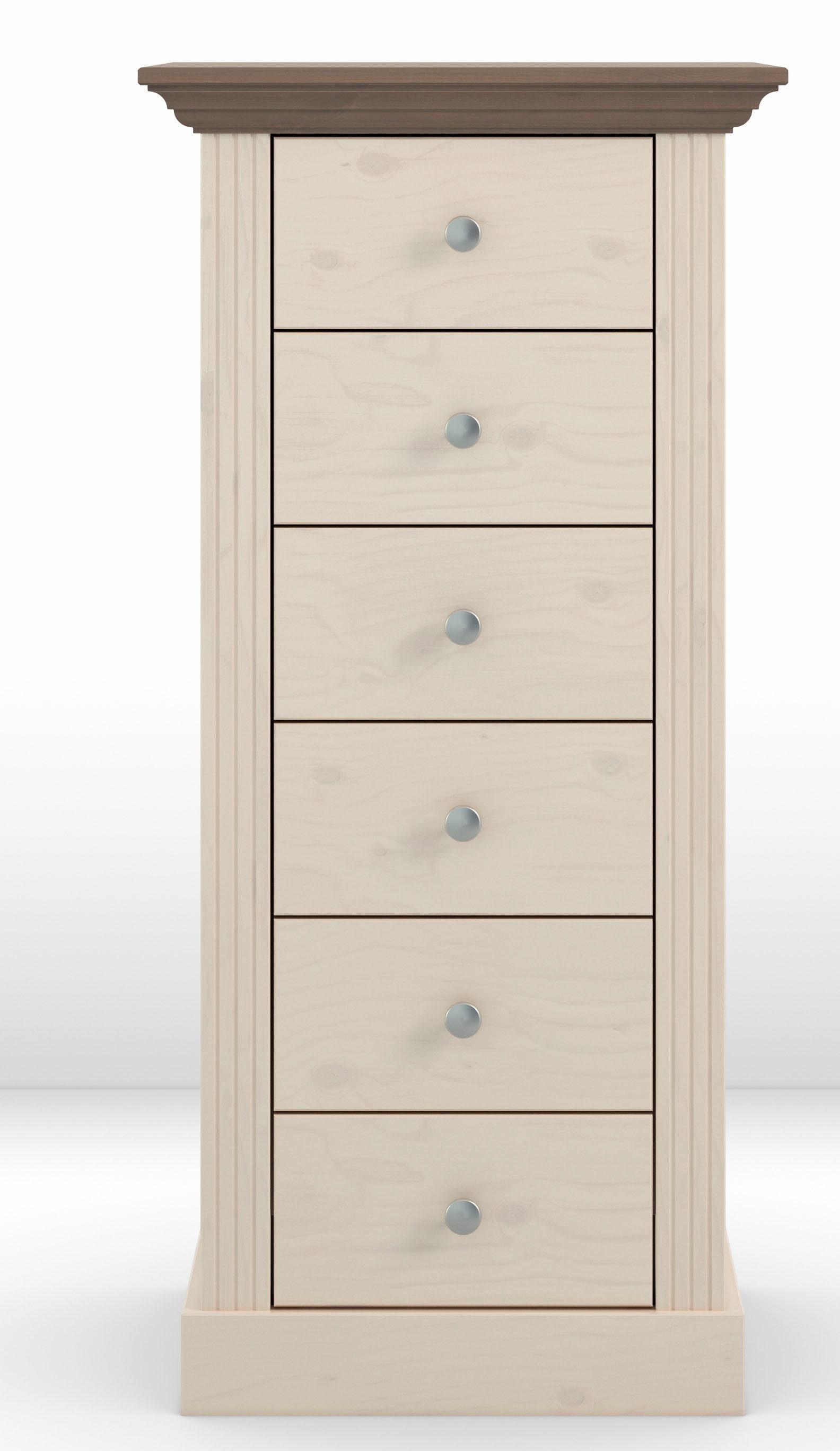 Home affaire Kommode Skanderborg«, Breite 53 cm mit 6 Schubladen
