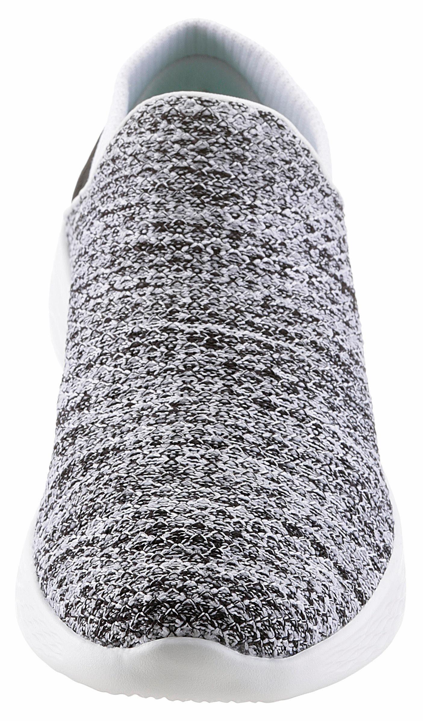 SKECHERS PERFORMANCE YOU Slipper, in Strick-Optik online kaufen  weiß-schwarz