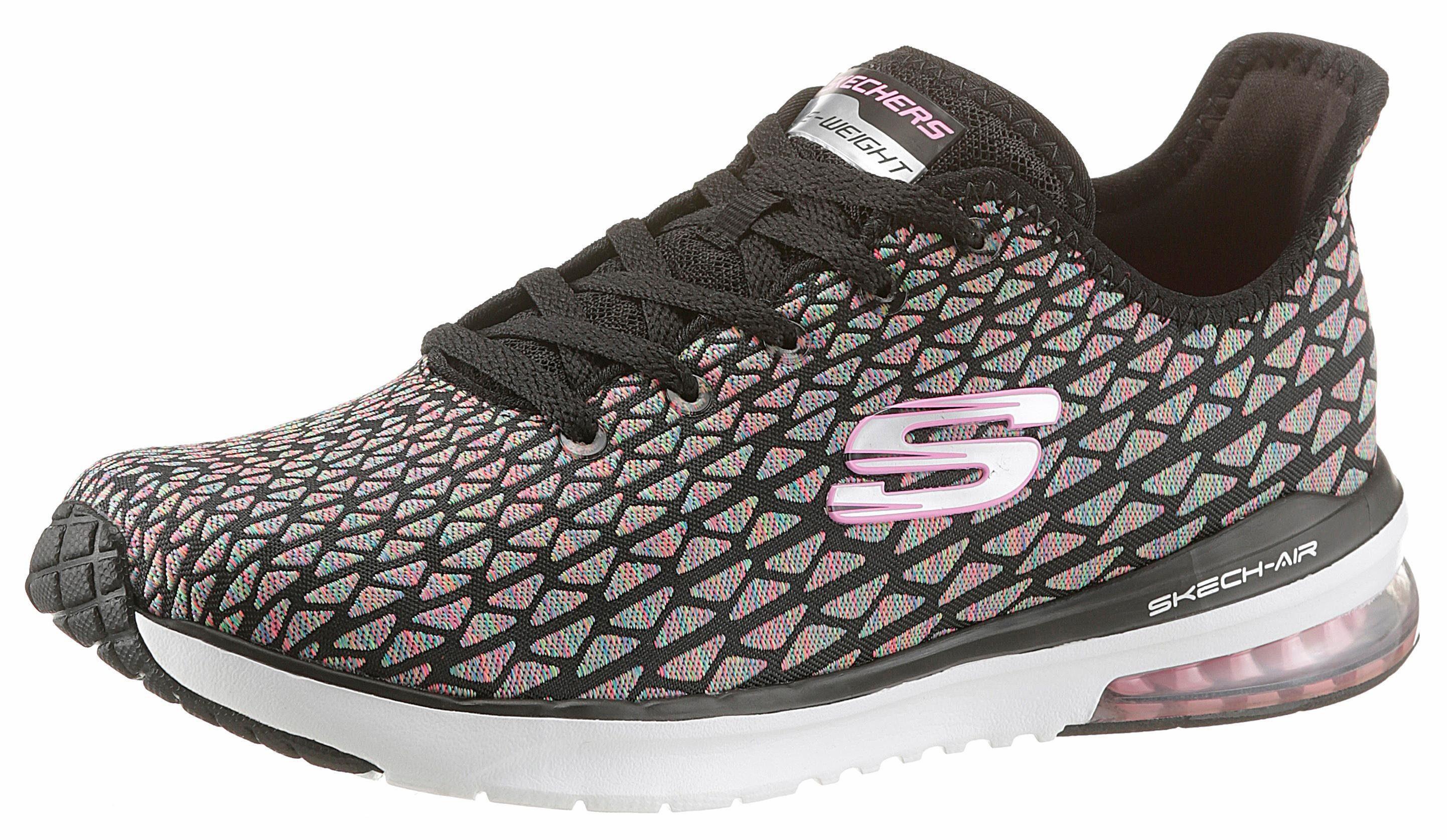 Skechers »Skech-Air Infinity Free Fallin« Sneaker, mit auffälligem Muster, blau, 35 35