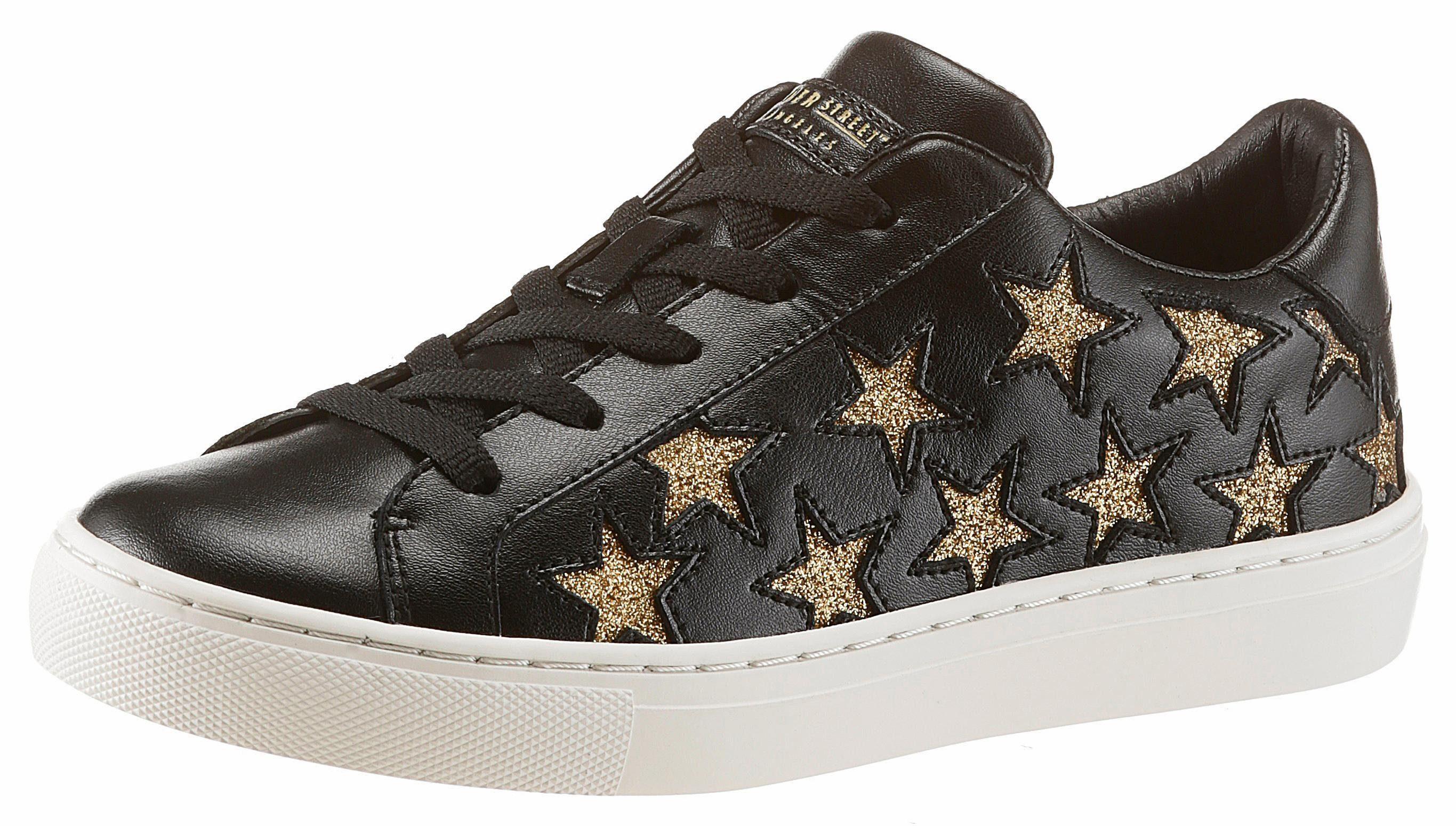 Skechers »Side Street - Star Side« Sneaker, mit trendigen Glitzersternchen, weiß, 36 36