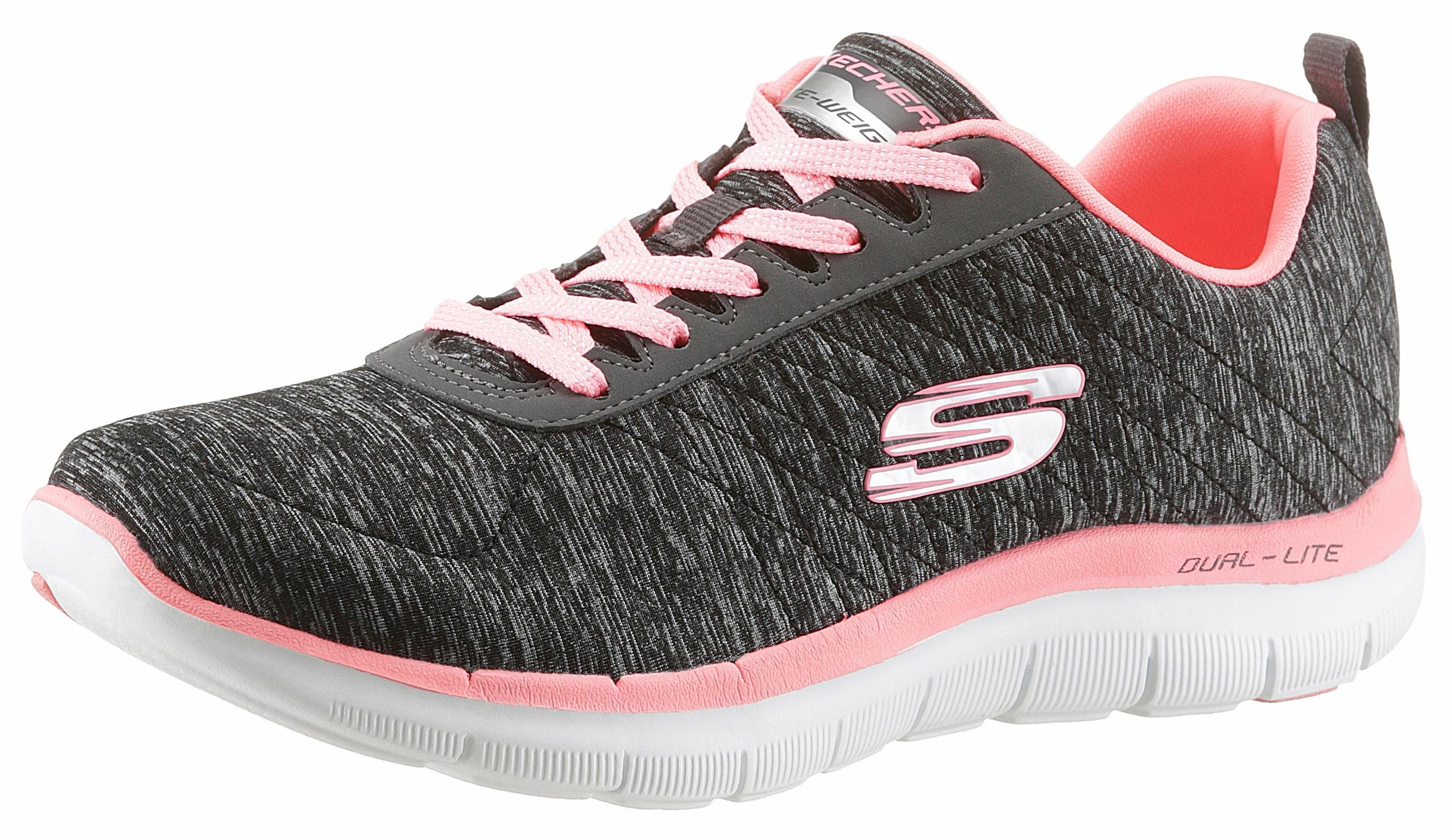Skechers Flex Appeal 20 Sneaker, mit Air Cooled Memory Foam online kaufen  schwarz-pink
