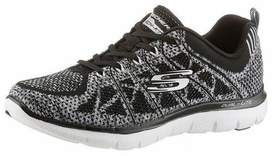 Skechers Flex Appeal 2.0 Nouveau Sneaker Bijou, Dans Strick-optik