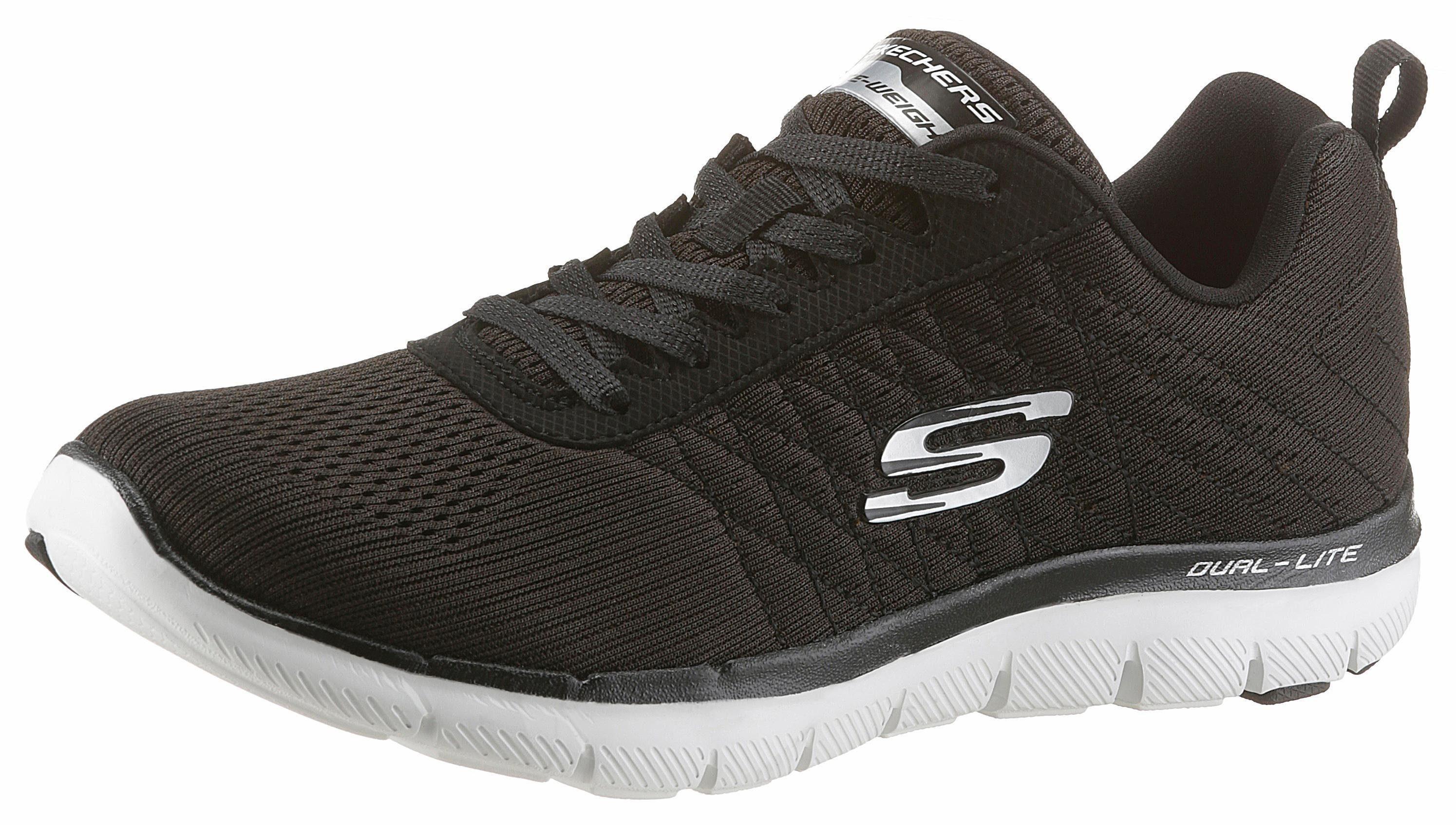 Skechers »Flex Appeal 2.0 Break Free« Sneaker, mit Dämpfung durch Air Cooled Memory Foam, schwarz, schwarz