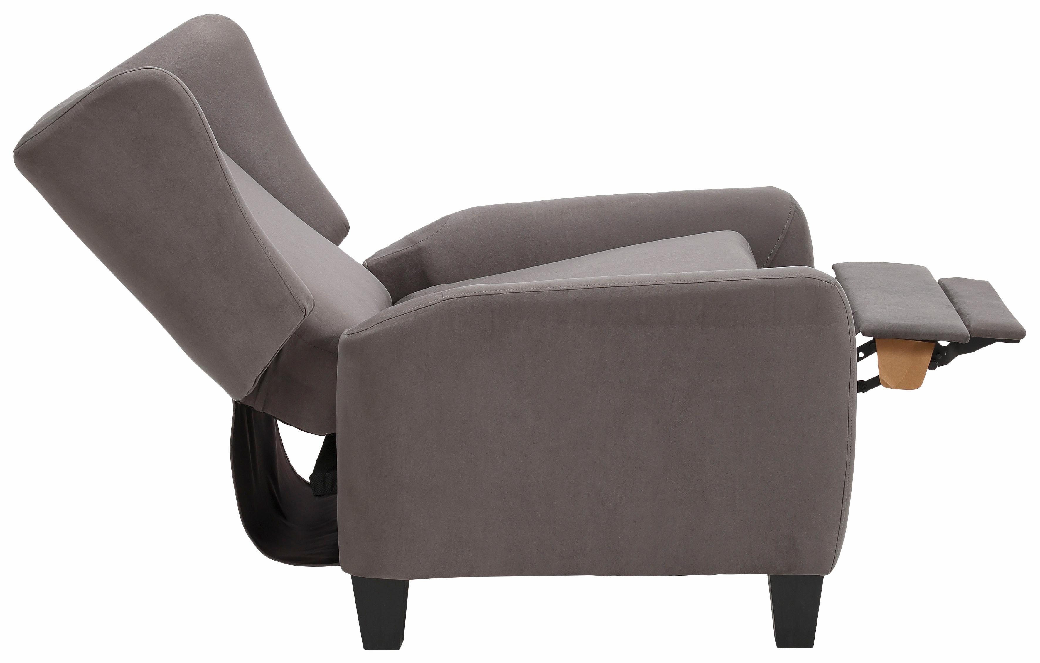 Home affaire Relax-/Ohrensessel »Alessa« mit verstellbarer Rückenlehne und ausfahrbarer Fußstütze | Wohnzimmer > Sessel > Ohrensessel | Microfaser - Polyester - Stoff | Home affaire