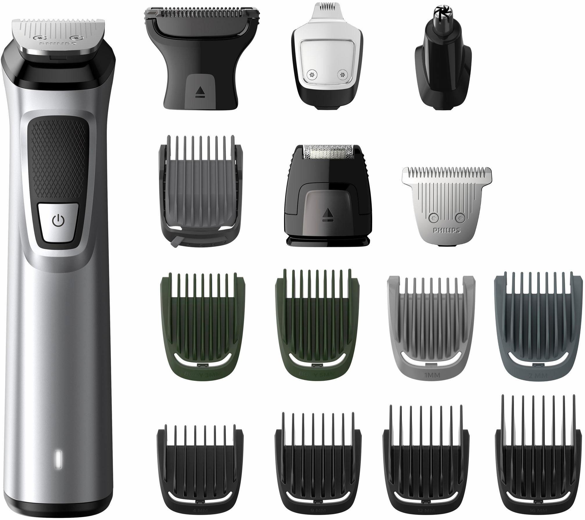 Philips Bart- und Haarschneider Set MG7730/15, Multigroom Series 7000 mit 16 hochwärtigen Aufsätzen