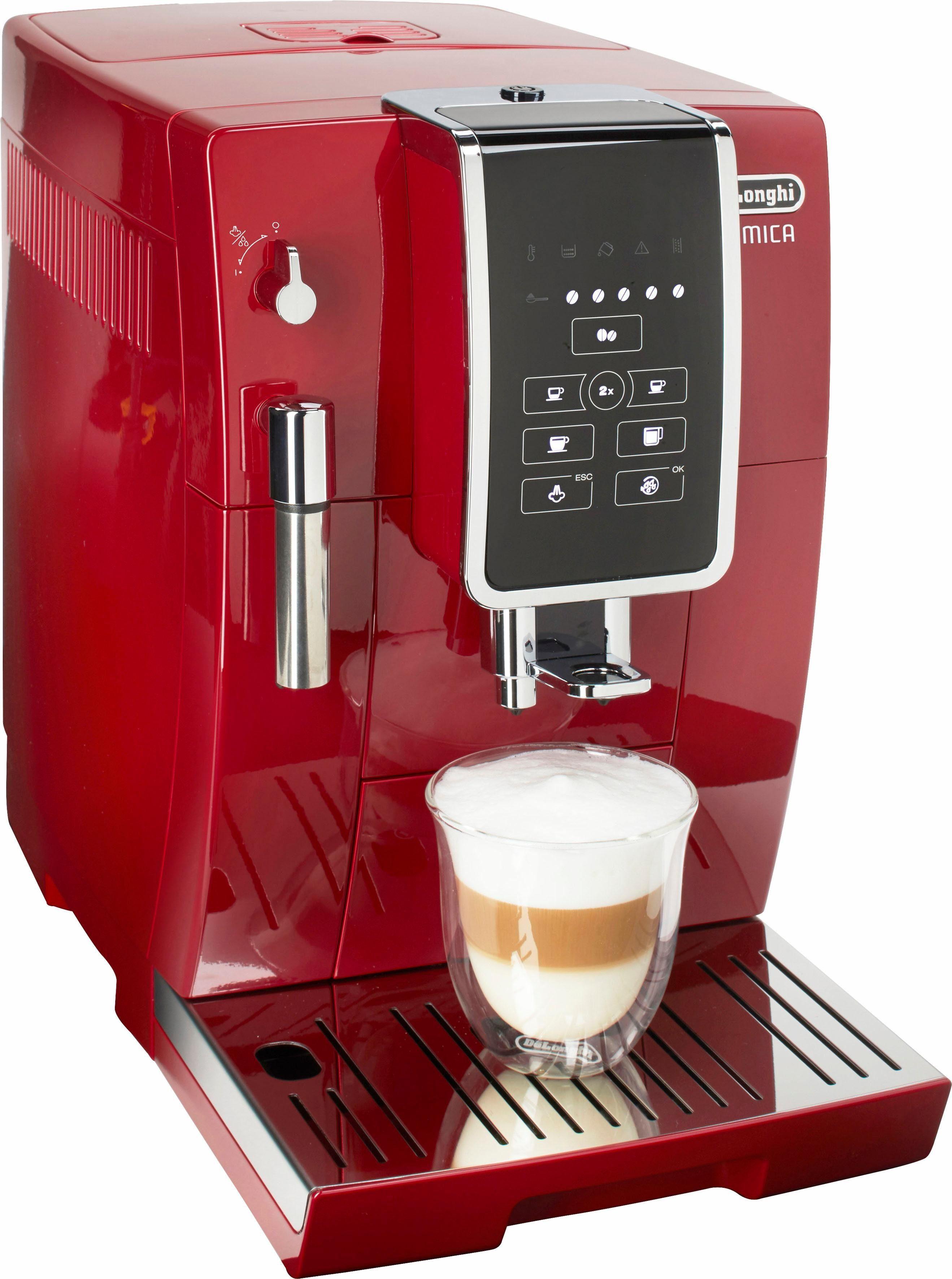 De'Longhi Kaffeevollautomat Dinamica ECAM 358.15.R, 1,8l Tank, Kegelmahlwerk, Sensor-Bedienfeld