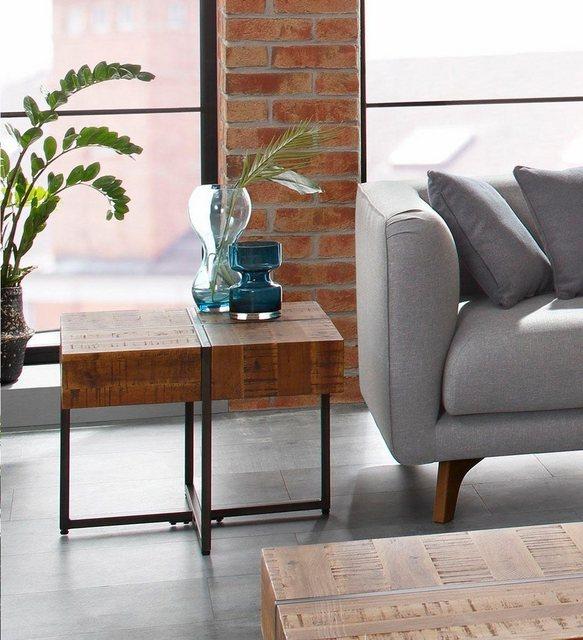 Wohnzimmertische - Home affaire Beistelltisch »Marilyn«, Tischplatte 60 60 cm, im Industrial Look  - Onlineshop OTTO
