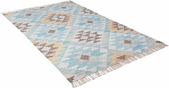 Orientteppich »Check Kelim«, TOM TAILOR, rechteckig, Höhe 5 mm, Flachgewebe