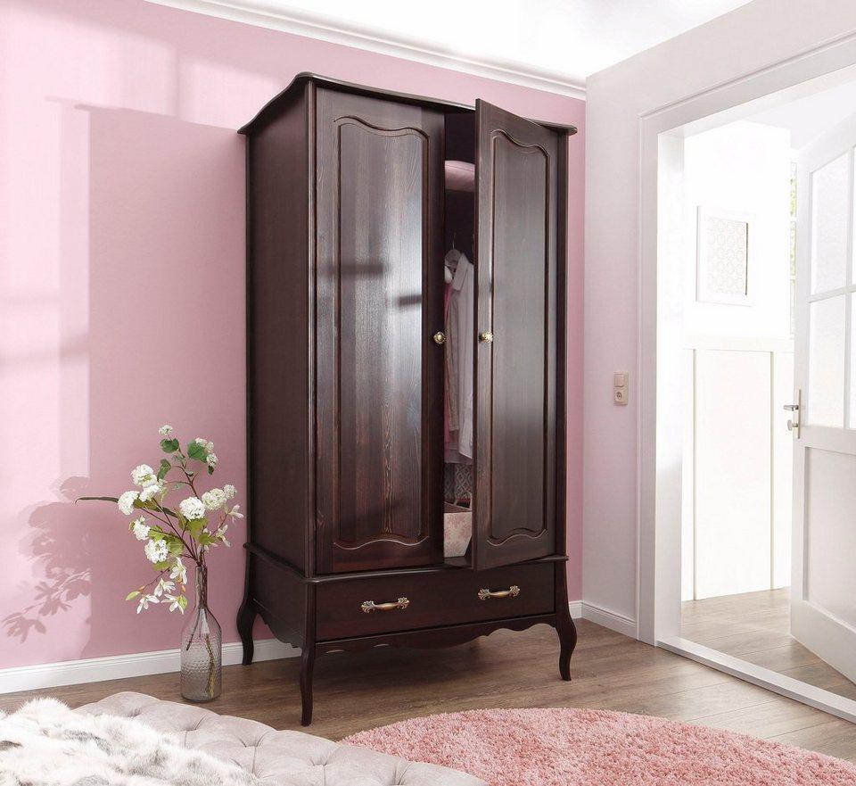 home affaire kleiderschrank lebo 2 3 oder 4 t rig in 2 farben in romantischem design. Black Bedroom Furniture Sets. Home Design Ideas