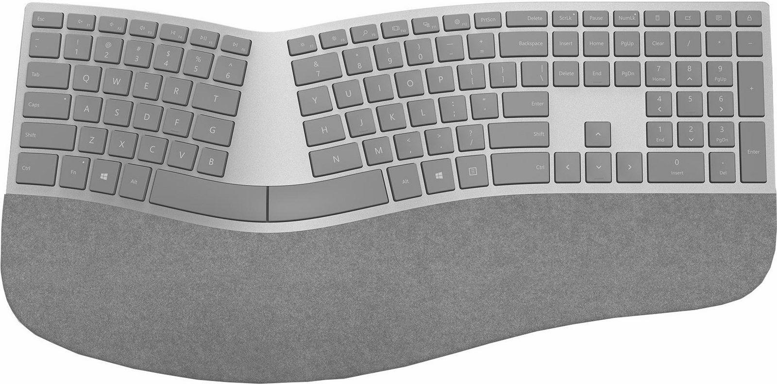 Microsoft Ergonomic Keyboard, für Surface, Bluetooth-Tastatur, grau jetztbilligerkaufen