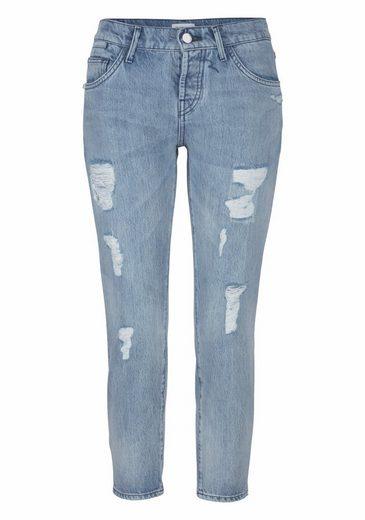 Rich & Royal Boyfriend-Jeans, mit Destroyed-Effekten