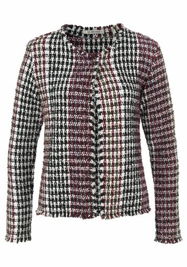 Rich & Royal Jack Blazer In Multicolored Texture Pattern With Wool