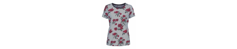 Noisy may Print-Shirt HAYDEN, mit Streifen und Blumenprint