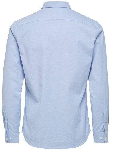 Selected Femme Slim-Fit- Langarmhemd