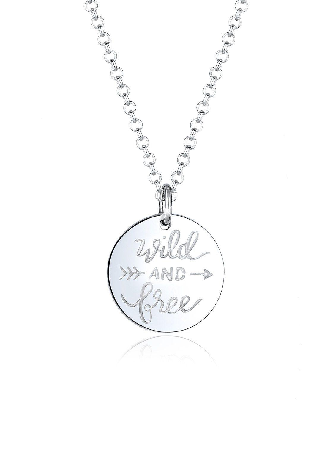 Elli Halskette »Wild Free Wording Pfeil Boho 925 Sterling Silber«