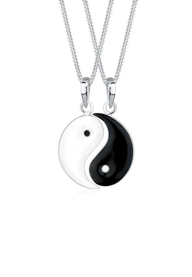 elli set halskette partnerketten yin yang 925 sterling. Black Bedroom Furniture Sets. Home Design Ideas
