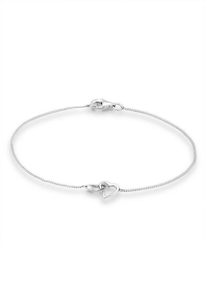 Sterling silber  Elli Armband »Herz Liebe 925 Sterling Silber S0201882815« online ...