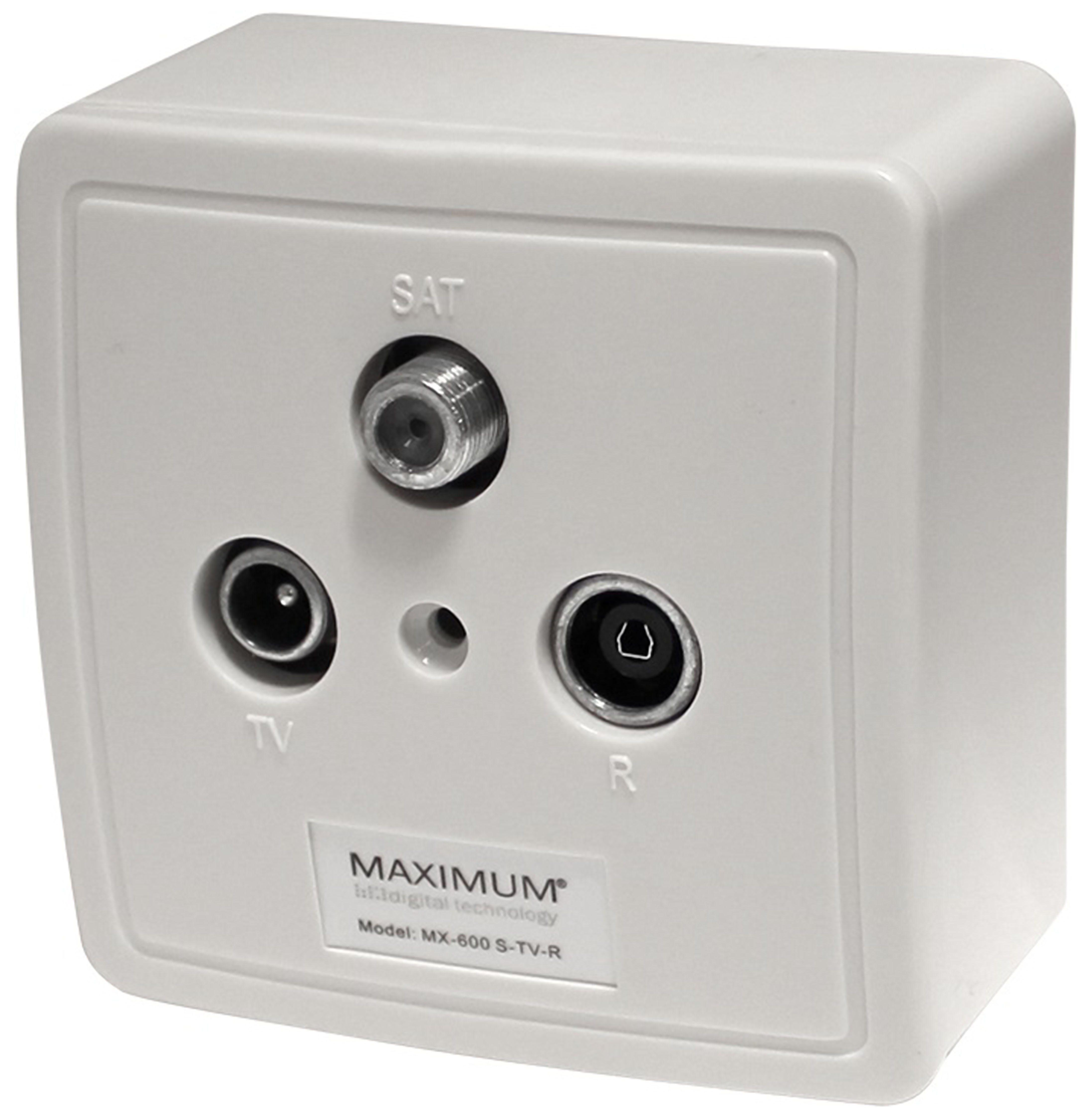 Maximum Einzelanschlussdose 3-fach (Enddose) »MX 600«